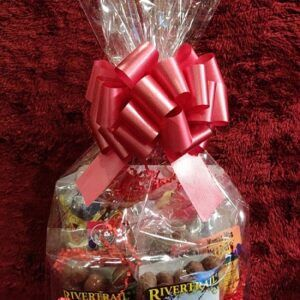 Small Milk Chocolate Gift Basket - Wrapped Basket